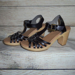 Old Navy Woven Clog Heeled Strappy Sandals 8